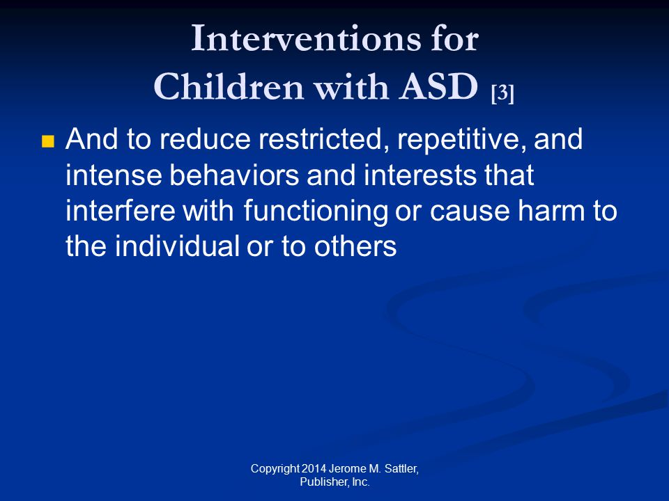 Interventions for Children with ASD [3]